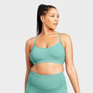 All in Motion Target Turquoise Sports Bra NWOT